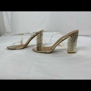 Women's Sz 10 Charlotte Russe krisha gold sandals